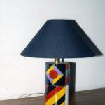 "Lamp ""Gio Ponti"", enamel, copper, steel construction, lamp shade Japanese paper"