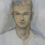 Boris, water colour on paper, 30X45 cm