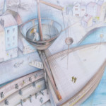 """Honfleur"", from ""Etienne Brulé, presentation for a Historical Society, Toronto, 2012"