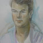 Kyrill, water colour on paper, 30X45 cm
