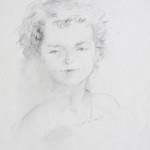 Simona, graphite sketch on paper, 30X45 cm