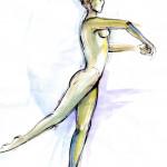 Balance – pen, ink, watercolour, 33X43 cm