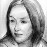 Boyana, charcoal sketch on paper, 30X45 cm