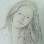 Girl Sketch, graphite on paper, 21X27 cm