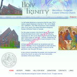 Holy Trinity, web site home page, 2008
