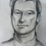 Kristian, charcoal sketch on paper, 30X45 cm