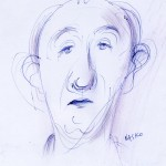 Manov, ball point pen sketch on paper, 20X30 cm