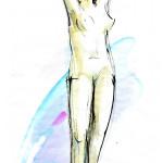 Morning – pen, ink, watercolour, 33X43 cm