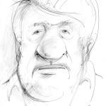 Rashidov, graphite sketch on paper, 30X45 cm