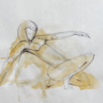 Sketch 1a – pen, sepia washes, 33X43 cm