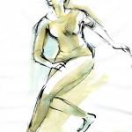 Swing – pen, ink, watercolour, 33X43 cm