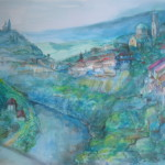 Turnovo, water colour on board, 45X33 cm