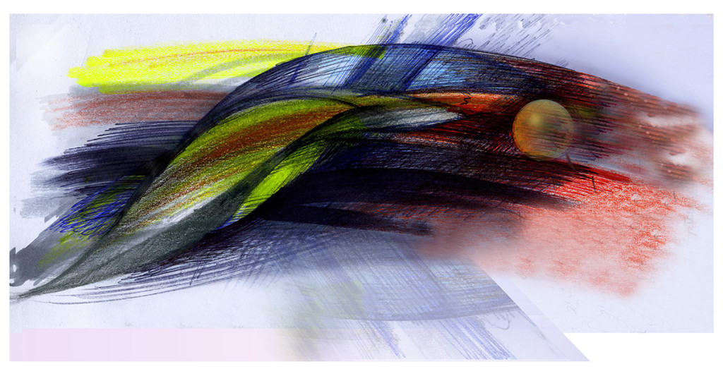 Arrow, chromo-digital print, 48X33 cm